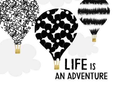 Life is an Adventure by Linda Woods art print