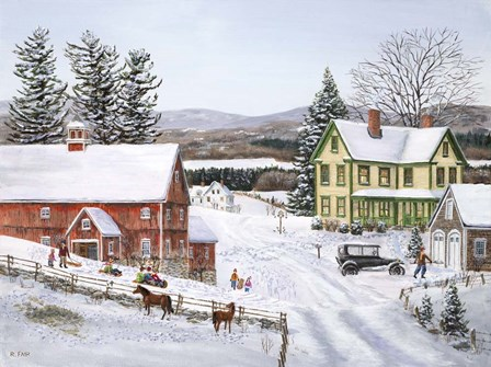 New Snow by Bob Fair art print