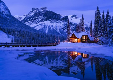 Mountain Lodge at Dusk by Michael Blanchette Photography art print