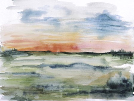Watercolor Landscape - A by Jean Plout art print