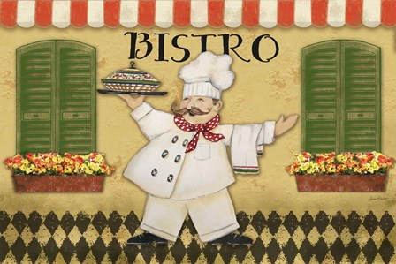 Bistro Chef by Jean Plout art print