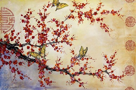 Butterfly Blossoms - Asian by Jean Plout art print