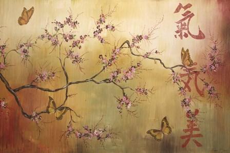 Butterfly Santuary - A by Jean Plout art print
