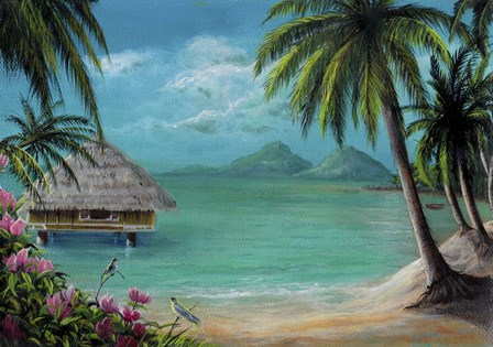 Tahiti Getaway by Greg Farrugia art print
