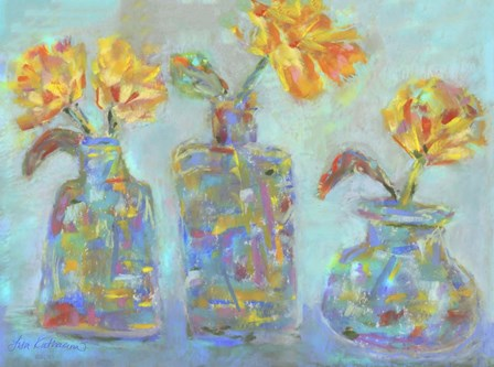 Nina's Three Bud Vases by Lisa Katharina art print