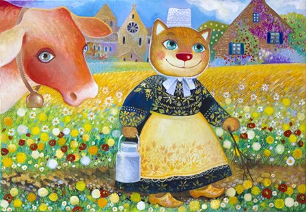 France - Breton peasant by Oxana Zaika art print
