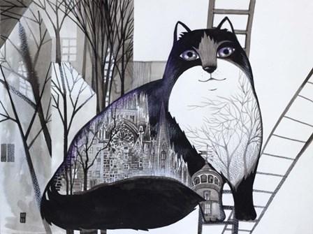 Black Cat 2 by Oxana Zaika art print