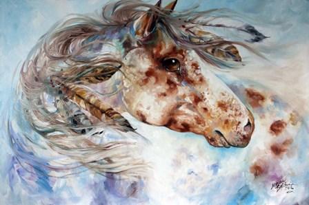 Thunder Appaloosa Indian War Horse by Marcia Baldwin art print