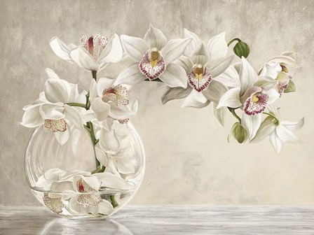 Orchid Vase by Remy Dellal art print