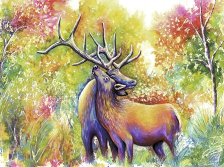 Elk Love by Michelle Faber art print