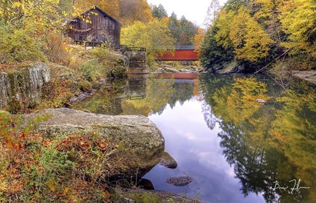 Autumn At The Mill by 5fishcreative art print