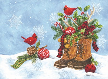Holiday Boots by Diane Kater art print