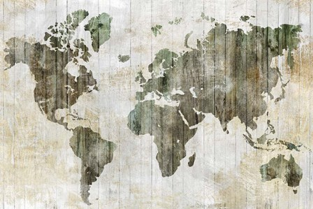World Map I by Isabelle Z art print