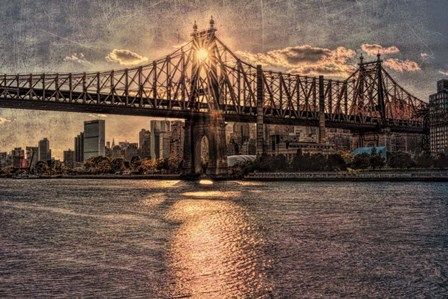 Sunset Behind Queensboro C by Franklin Kearney art print