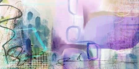 Walk in the Rain by Delores Naskrent art print