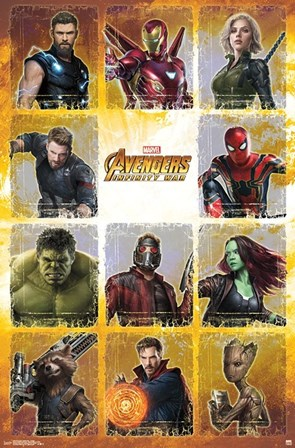 Avengers Infinity War (chart) art print