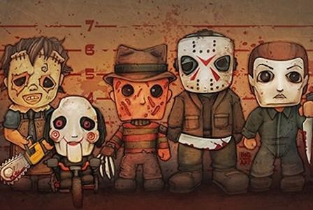 Killer Line-Up art print