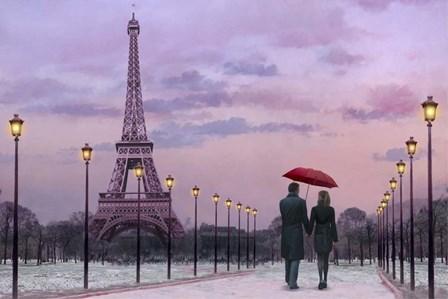 Red Umbrella by Chris Consani art print