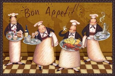Chefs Bon Appetit V by Vivian Eisner art print