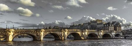 Pont Neuf Paris Black/White by Duncan art print