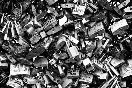 Love Locks Black/White by Duncan art print