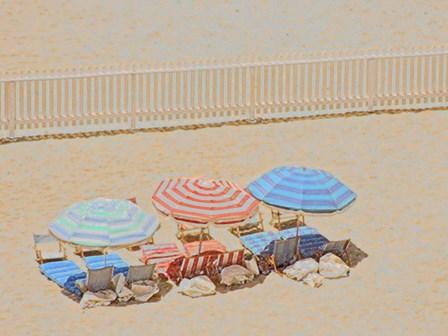 Umbrellas III by Sally Linden art print
