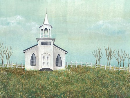 Country Church I by Regina Moore art print