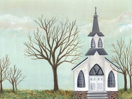 Country Church II by Regina Moore art print