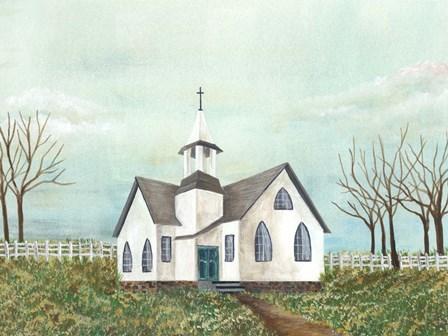 Country Church III by Regina Moore art print