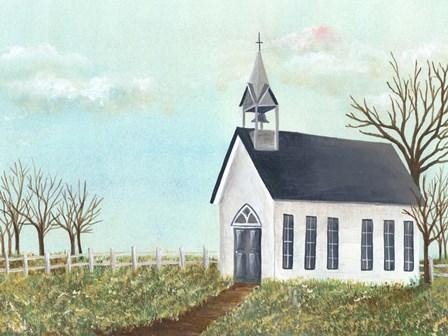 Country Church IV by Regina Moore art print