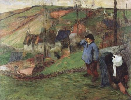 Breton Shepherd by Paul Gauguin art print