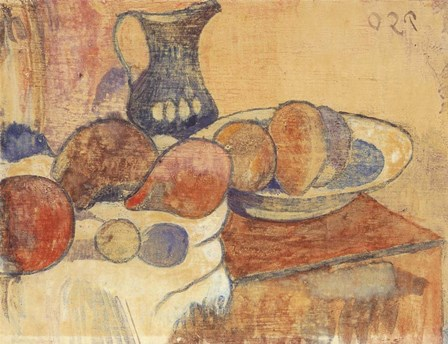 Still Life with a Pitcher and Fruit by Paul Gauguin art print