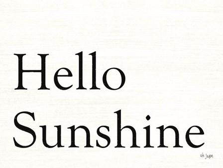 Hello Sunshine by Jaxn Blvd art print