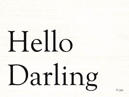 Hello Darling by Jaxn Blvd art print