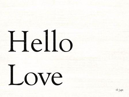 Hello Love by Jaxn Blvd art print