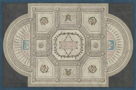 Parisian Ceiling Design by June Erica Vess art print