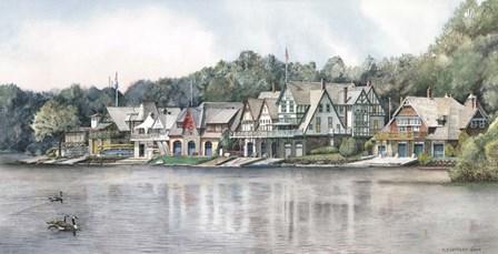 Boathouse Row 6 by Nicholas Santoleri art print