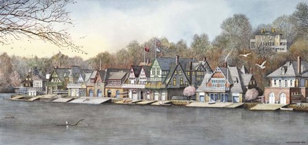 Boathouse Row 7 by Nicholas Santoleri art print