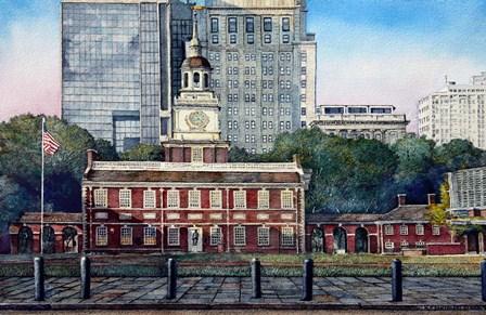 Independence Hall 3 by Nicholas Santoleri art print