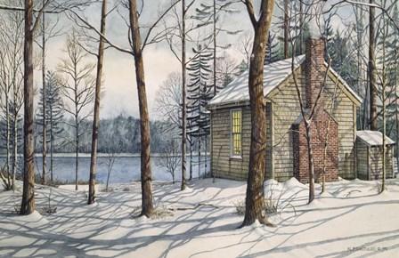 On Walden Pond by Nicholas Santoleri art print