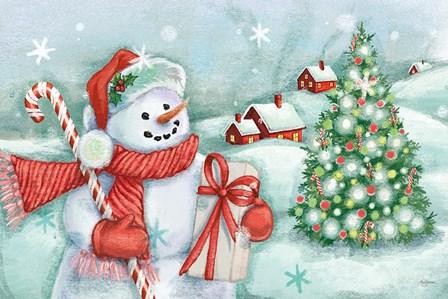 Classic Snowmen I by Mary Urban art print