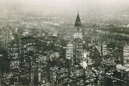 Manhattan at Night by Wild Apple Portfolio art print