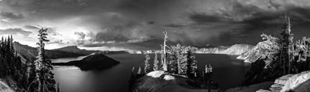 Crater Lake Black & White by Duncan art print