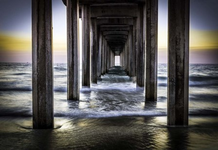 Cali Pier Sunset by Duncan art print