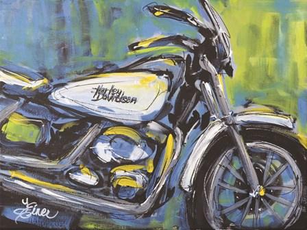 White Harley by Terri Einer art print