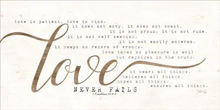 Love Never Fails by Marla Rae art print