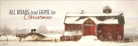 All Roads Lead Home for Christmas by Lori Deiter art print