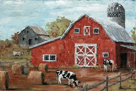 Red Country Barn by Marie-Elaine Cusson art print
