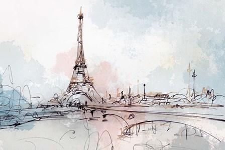 Blushing Paris by Isabelle Z art print