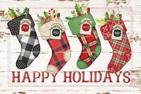Happy Stockings by Jennifer Pugh art print